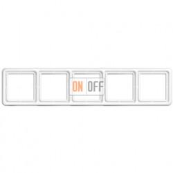 Рамка пятерная, горизонтальная/вертикальная Jung CD 500, белый CD585WW