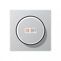 Светорегулятор поворотно-нажимной 20-210 Вт для ламп накаливания, для LED 3-60вт, алюминий, 1730DD- EP1540BFAL