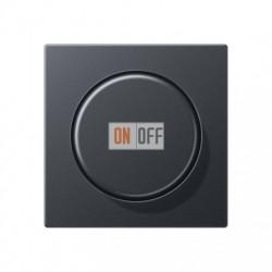 Светорегулятор поворотно-нажимной 20-210 Вт для ламп накаливания, для LED 3-60вт, антрацит, 1730DD - EP1540BFAN