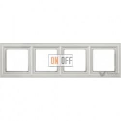 Рамка четверная Jung Eco Profi Deco, белый EPD484WW