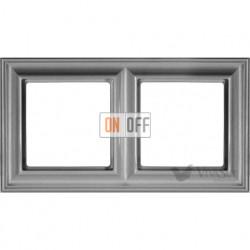 Рамка двойная Jung Eco Profi Deco, алюминий EPD482AL