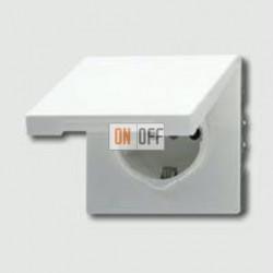 Розетка с заземляющими контактами 16 А / 250 В~, с откидной крышкой и уплотнительной мембраной IP44 551WU - LS1520KLWW