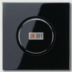 Светорегулятор JUNG универсальный поворотно-нажимной LED 3-100Вт., 20-420Вт ламп накал. и галог., черный глянец  1731DD - LS1940SW