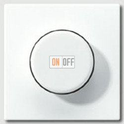 Светорегулятор JUNG поворотно-нажимной LED 3-60Вт., 20-210Вт ламп накал. и галог., белый глянец 1730DD - LS1940WW