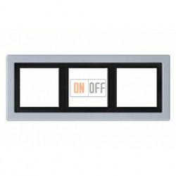 Рамка тройная, для горизон./вертик. монтажа Jung LS-design, алюминий ALD2983