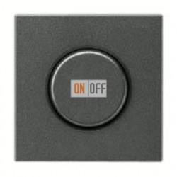 Светорегулятор JUNG универсальный поворотно-нажимной LED 3-100Вт., 20-420Вт ламп накал. и галог., антрацит металл  1731DD - AL1940AN