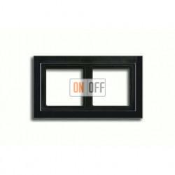 Рамка двойная, для горизон./вертик. монтажа Jung LS-design, черный глянцевый LSD982SW