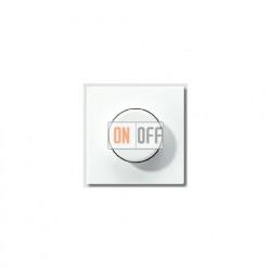 Светорегулятор JUNG универсальный поворотно-нажимной LED 3-100Вт., 20-420Вт ламп накал. и галог., белый глянец 1731DD - LS1940WW