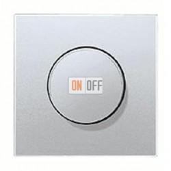 Светорегулятор JUNG универсальный поворотно-нажимной LED 3-100Вт., 20-420Вт ламп накал. и галог., алюминий металл  1731DD -  AL1940