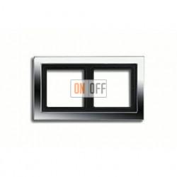 Рамка двойная, для горизон./вертик. монтажа Jung LS-design, хром GCRD2982
