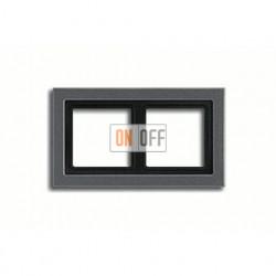 Рамка двойная, для горизон./вертик. монтажа Jung LS-design, антрацит ALD2982AN