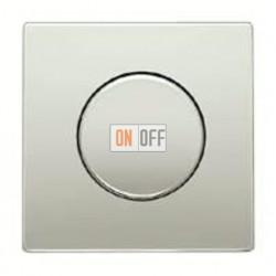 Светорегулятор JUNG универсальный поворотно-нажимной LED 3-100Вт., 20-420Вт ламп накал. и галог., нержавеющая сталь 1731DD -  ES1940