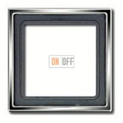 Рамка одинарная Jung LS 990, блестящий хром gcr2981