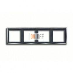 Рамка четверная, для горизон./вертик. монтажа Jung LS 990, блестящий хром gcr2984
