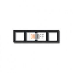 Рамка четверная, для горизон./вертик. монтажа Jung LS 990, антрацит al2984an