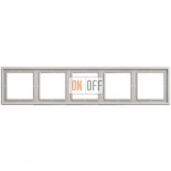 Рамка на 5 постов, горизонтальная/вертикальная, Jung LS 990, светло-серый LS985LG