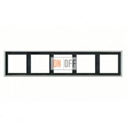 Рамка пятерная, для горизон./вертик. монтажа Jung LS 990, алюминий al2985