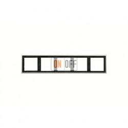 Рамка пятерная, для горизон./вертик. монтажа Jung LS 990, нержавеющая сталь es2985