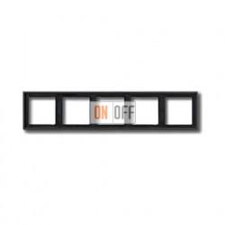 Рамка пятерная, для горизон./вертик. монтажа Jung LS 990, антрацит al2985an