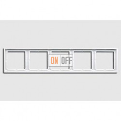 Рамка пятерная, для горизон./вертик. монтажа Jung LS 990, белый глянцевый ls985ww