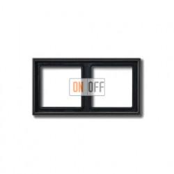 Рамка двойная, для горизон./вертик. монтажа Jung LS 990, антрацит al2982an