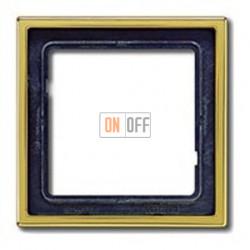 Рамка одинарная Jung LS 990, золото GO2981