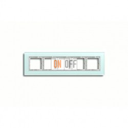 Рамка пятерная, для горизон./вертик. монтажа Jung LS Plus, матовое стекло LSP985GLAS