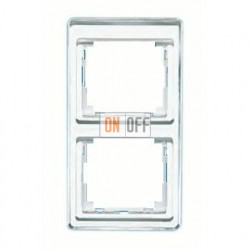 Рамка двойная, для вертикального монтажа Jung SL 500, белое стекло sl582ww