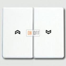 Выключатель управления жалюзи клавишный, 10 А / 250 В~ 509vu - sl595pww