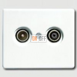 Розетка телевизионная проходная TV FM, диапазон частот от 4 до 2400 MГц sl561tvww - S2900-10
