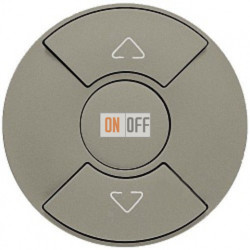 Кнопочный выключатель Celiane для рольставней, штор, жалюзи (титан) 68451 - 67602 - 80251