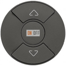 Кнопочный выключатель Celiane для рольставней, штор, жалюзи (графит) 67955 - 67602 - 80251
