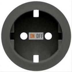 Розетка электрическая с заземлением с защитными шторками Legrand Celiane  (графит) 67931 - 67161 - 80251
