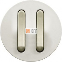 Выключатель двойной с узкой клавишей Legrand Celiane 6А  (белый) 65002 - 67001 - 67001 - 80251