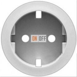 Розетка электрическая с заземлением с защитными шторками (белый) 67161 - 68131 - 80251
