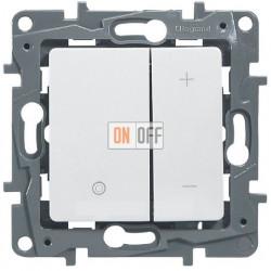 Светорегулятор нажимной 400Вт Etika (белый) 672218