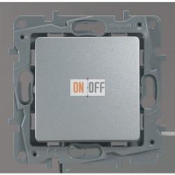 Выключатель-переключатель с подсветкой 10AX (алюминий) 672415