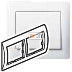 Рамка двойная, для горизонтального монтажа Legrand Galea Life, белый глянцевый 771002