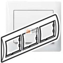 Рамка тройная, для горизонтального монтажа Legrand Galea Life, белый глянцевый 771003