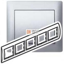 Рамка пятерная, для горизонтального монтажа Legrand Galea Life, алюминий 771305
