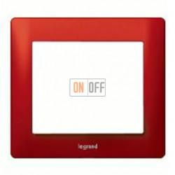 Рамка одинарная Legrand Galea Life, красный металл 771901
