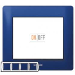 Рамка четверная, для горизонтального монтажа Legrand Galea Life, синий металл 771914