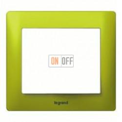 Рамка одинарная Legrand Galea Life, зеленый металл 771921