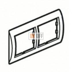 Рамка двойная, для горизонтального монтажа Legrand Galea Life, зеленый металл 771922