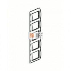 Рамка пятерная, для вертикального монтажа Legrand Galea Life, зеленый металл 771929