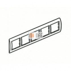 Рамка пятерная, для горизонтального монтажа Legrand Galea Life, черный никель 771945