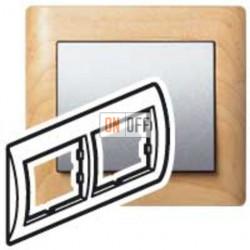 Рамка двойная, для горизонтального монтажа Legrand Galea Life, клен 771962