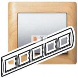 Рамка пятерная, для горизонтального монтажа Legrand Galea Life, клен 771965