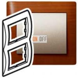 Рамка двойная, для вертикального монтажа Legrand Galea Life, вишня 771976