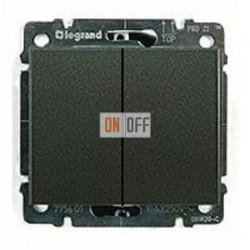 Выключатель двухклавишный, проходной (вкл/выкл с 2-х мест) 10 А / 250 В~ 775808 - 771212
